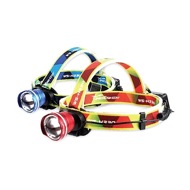 우신 벨로프 LED 충전식 줌 헤드랜턴 WS H330 (색상랜덤)