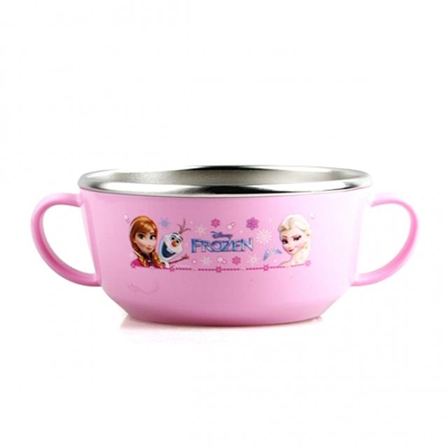 (겨울왕국 논슬립 스텐 양수볼) 어린이그릇 이유식기